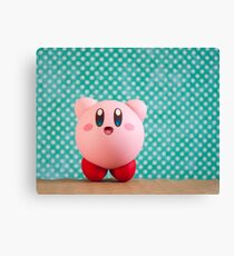 Cheering Kirby :: Nendoroid Figure Photography  Canvas Print
