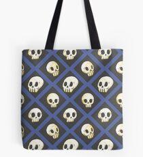 Tiling Skulls 4/4 - Blue Tote Bag
