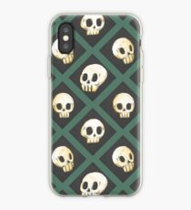 Tiling Skulls 3/4 - Green iPhone Case