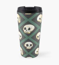 Taza de viaje Tiling Skulls 3/4 - Verde