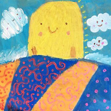 Kawaii Sunrise - My daughters painting by hudsonvibes