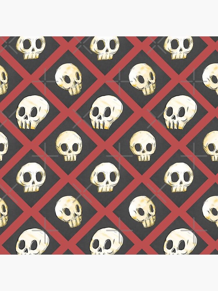 Tiling Skulls 2/4 - Red by Foss