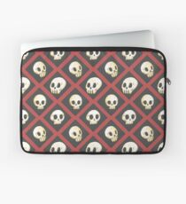 Tiling Skulls 2/4 - Red Laptop Sleeve