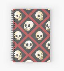 Tiling Skulls 2/4 - Red Spiral Notebook