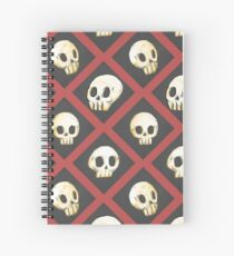 Tiling Skulls 2/4 - Red Spiral Notebook