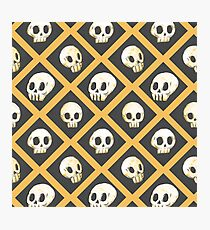 Tiling Skulls 1/4 - Yellow  Photographic Print