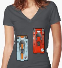 Slot Cars II Women's Fitted V-Neck T-Shirt