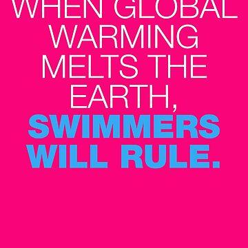 Swim Motivation t-Shirt by visuals2018
