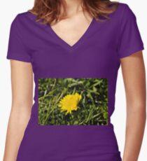 Flower macro Women's Fitted V-Neck T-Shirt