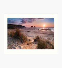 Cornwall - Holywell Bay Art Print