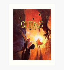 Outlaws (High Contrast) Art Print