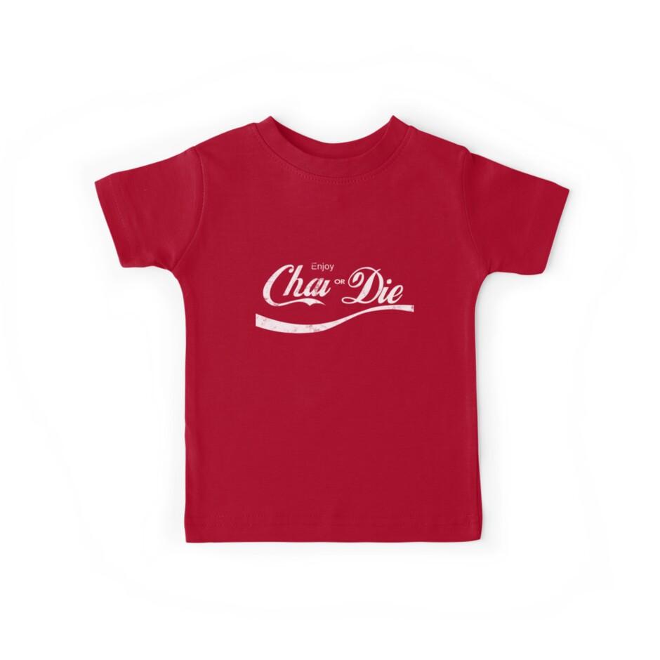 3debe751 Enjoy Chai or Die Funny Indian Desi Punjabi T-Shirt, Coke Cola Parody