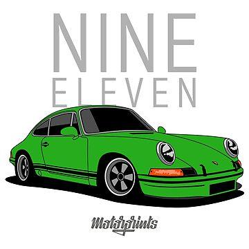 Nine Eleven (green) by MotorPrints