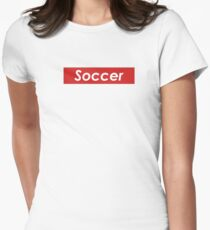 Soccer Red Box Women's Fitted T-Shirt