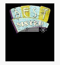 50s Vintage Best Sister 50s Retro Photographic Print