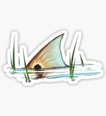 Tailing Redfish in Grass | Redfish Tail Sticker
