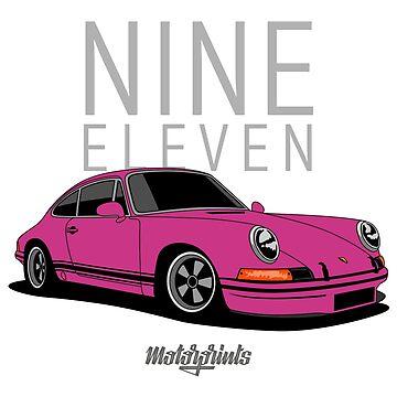 Nine Eleven (pink) by MotorPrints