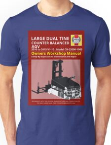 Workshop Manual - Large Dual Tine CB AGV - BW Unisex T-Shirt