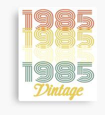 1985 VINTAGE T-SHIRT Canvas Print