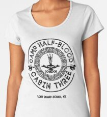 Percy Jackson - Camp Half-Blood - Cabin Three - Poseidon Women's Premium T-Shirt