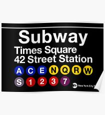 New York City Subway Sign Poster