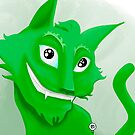 Kyrai the green cat by Gioppo