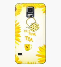 Sunflowers And Tea Case/Skin for Samsung Galaxy