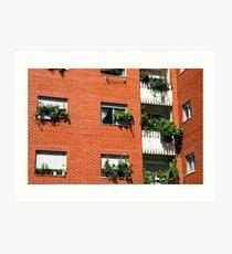 Apartment block  Art Print