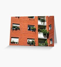 Apartment block  Greeting Card