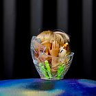 Fragmented Glass Barbie Head  by jlara
