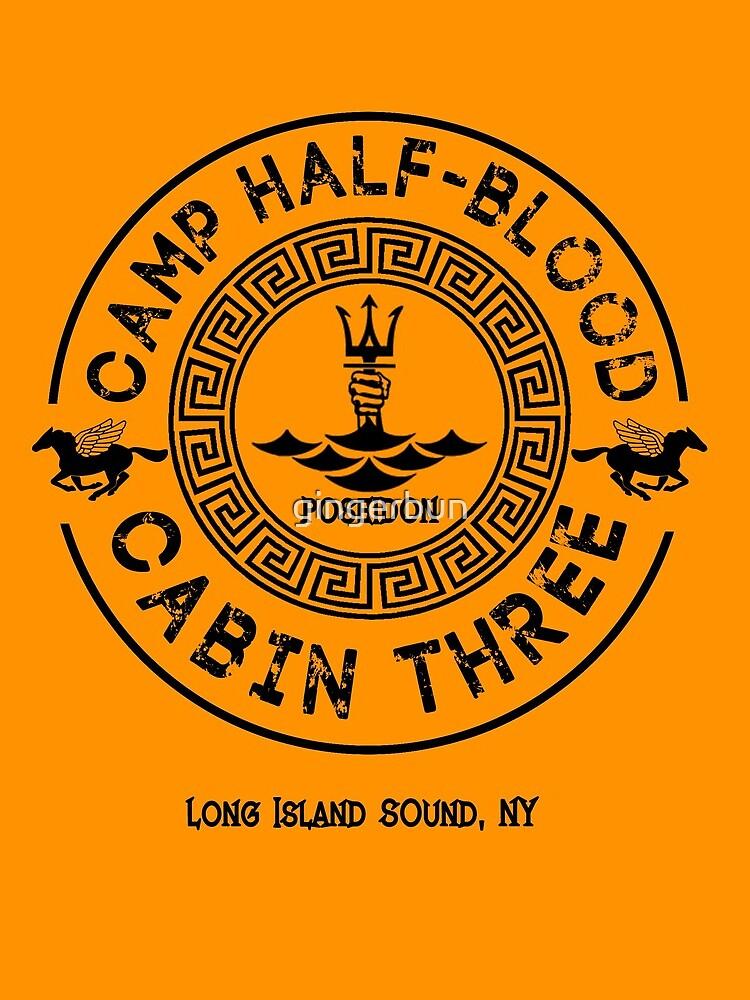 Percy Jackson - Camp Half-Blood - Cabin Three - Poseidon by gingerbun