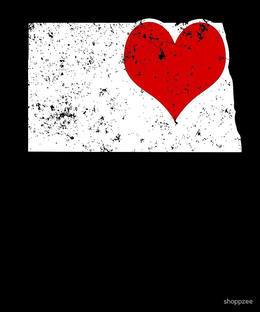Valentine Shirt North Dakota Valentine Heart T Shirt by shoppzee