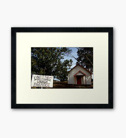 Uniting Church, Paradise Framed Print