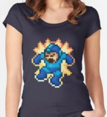 Megaman Damage Women's Fitted Scoop T-Shirt