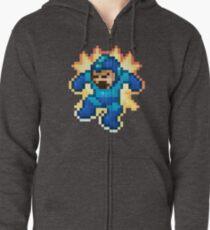 Megaman Damage Zipped Hoodie