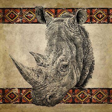 Serengeti Rhino by ShantyShawn