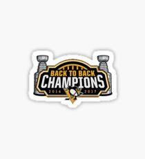 Pittsburgh Penguins Back to Back Logo Sticker