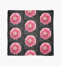 Pink and white dahlia designs Scarf