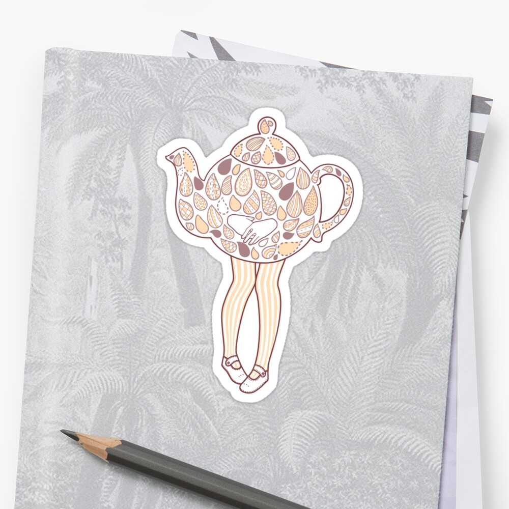 Teapot Girl - purple by Susan Lee