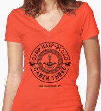 Percy Jackson - Camp Half-Blood - Cabin Three - Poseidon Women's Fitted V-Neck T-Shirt