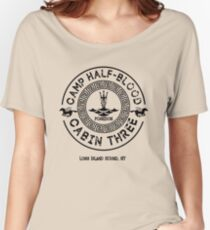 Percy Jackson - Camp Half-Blood - Cabin Three - Poseidon Women's Relaxed Fit T-Shirt
