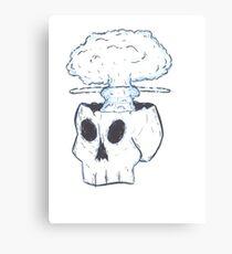 Bomb skull Canvas Print