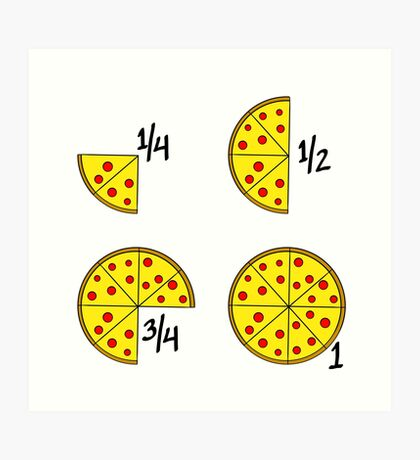 Pizza Fractions Art Print