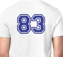 Number 83 Unisex T-Shirt
