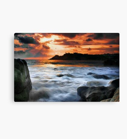 Evening Surf Canvas Print