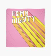 Retro Bomb Digity Words In Pink, Yellow, and Orange Scarf