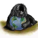Earth Day Newfie by Patricia Reeder Eubank