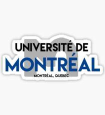 Université de Montreal sticker with Carabin Sticker
