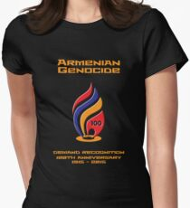 Armenian Genocide 100yr Anniversary Womens Fitted T-Shirt