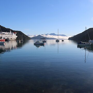 Beautiful Picton Harbour New Zealand by Ainslie1